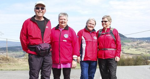 IVRIG GJENG: Fra venstre: Øyvind Dammen, Ragnhild Sagadalen, Sonja Aakerlund og Jorun Dammen.