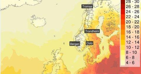Hold ut, oppfordrer meteorologene på Twitter. Nå kommer varmen.