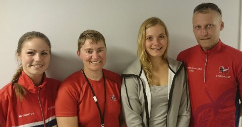 GOD Trio: Ingrid Stubsjøen (t.v.), Gunn Heidi S. Haugen,  Katrine Aannestad Lund og Kim-André Aannestad Lund.