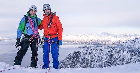 Travelt: Seth Hobby (t.h.) og Maren Eek Bistrup har ansatt Sjur Hauge (t.v.( i en fulltidsstilling i Northern Alpine Guides.