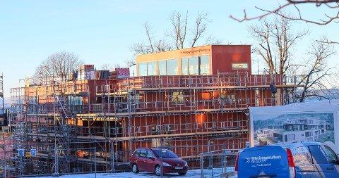 Upåklagelig utsikt: Det blir panoramautsikt fra takboksene på boligkomplekset ved Godset.