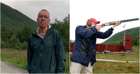 TUROMRÅDE OG SKYTEBANE: Bydelsrådsleder John Pedersen i starten av lysløypa i Tromsdalen. Bak han er et yndet turområde - og skytebane. Til høyre bilde fra skytebanen.