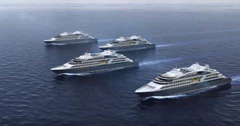 Fra cruiseoperatøren Ponants nye luksusskip.