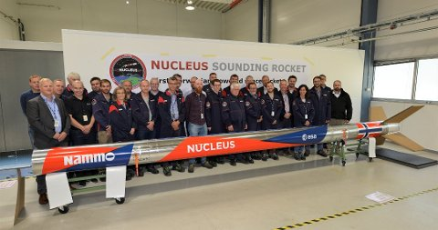 DEN FØRSTE I NORSK HISTORIE: Den helnorsk-produserte romraketten «Nucleus» kan bli den første europeiske i sitt slag til å nå verdensrommet på flere tiår - og den første i norsk historie.
