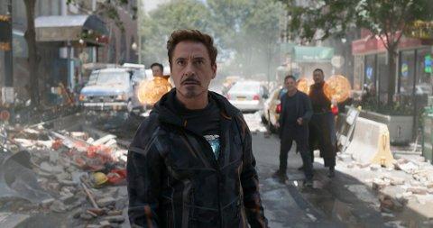 APRILS MEST POPULÆRE: Marvel Studios' «Avengers: Infinity War» med blant andre Robert Downey Jr. ble den mest populære filmen på kino i april. (Foto: Marvel Studios)