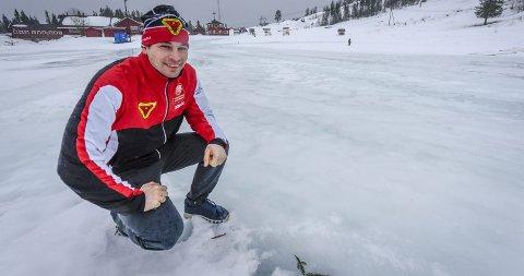 Jesper Andersen på Skillevollen før NNM i skiskyting.