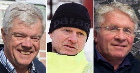 SAMMEN: Byplanen krever at Jan Solberg, Trond Stenumgaard og Dagfinn B. Aslaksrud ser kvartalet i sammenheng.