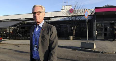 LETTET: Gisle Skansen, administrende direktør på Torp Sandefjord lufthavn.