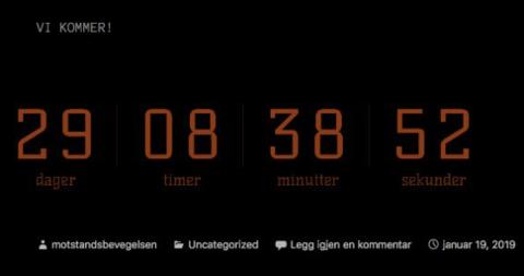[b]UR:[/b] En tikkende klokke indikerer det som kan være datoen for en planlagt demonstrasjon med gule vester i Rogaland.