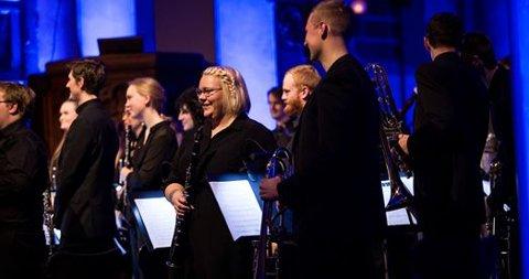 BLÅSEENSEMBLE: Onsdag speler musikkstudentar ved Universitetet i Stavanger gratiskonsert i Torghuset på Jørpeland.