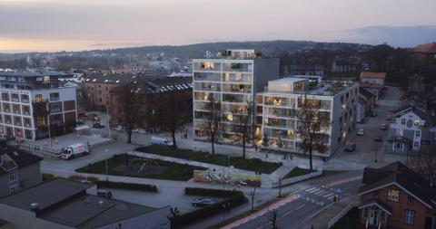 UENIGE: Utbygger Petter Samuelsen ønsker å bygge et klimanøytral boligblokk her. Naboene i Sameiet Bulls gate vurderer å prøve å stoppe planen gjennom uenighet om parkeringsplasser.