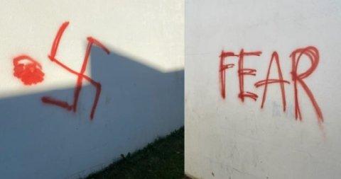 HATEFULLT: Bilde av tagging som nå er anmeldt.
