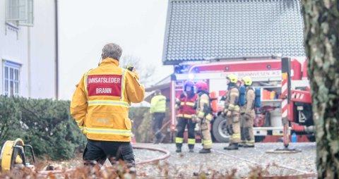 Brann på Torderud gård i november 2018.