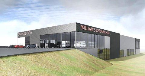 ÅPNER I JUNI: Williams Caravan åpner i splitter nye lokaler i juni.