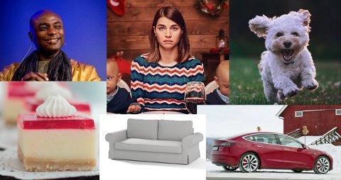 Populært: Netflix-serien Hjem til jul er på topplistene for 2019. Det samme er blant annet Tesla Model 3, sofa og ostekake.