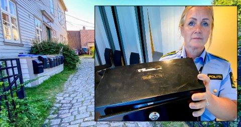 Denne postkassen fra en adresse i Gamlebyen ble benyttet av en av de pågrepne personene i saken. Det var funnet av denne som fikk politiet inn på sporet av de siktede i saken.