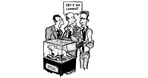 TO ØSTLENDINGER avslører at interesse for politikk ikke nødvendigvis betyr kunnskaper om norsk fauna. Journalist Ragnar Bøifot forteller dem ett og annet om smågnagere...
