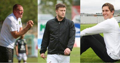 Hans Olav Frette, til venstre, Espen Sola og Håvard Urstad har alle tro på at deres tidligere klubb unngår nedrykk.