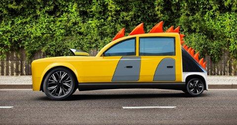 «EKTE» BIL: Skodas designerteam laget en ekte bil av tegninga som Tage hadde levert inn.