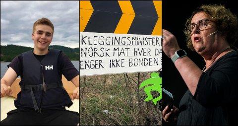 LEDER: Ola Svartaas, leder i Gran og Brandbu bygdeungdomslag, mener landbruksministeren har gjort en dårlig jobb.