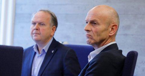 STRAMT BUDSJETT: (f.v) Tysvær-ordfører Sigmund Lier (Ap) og rådmann Sigurd Eikje må forberede seg på innsparinger de neste årene.