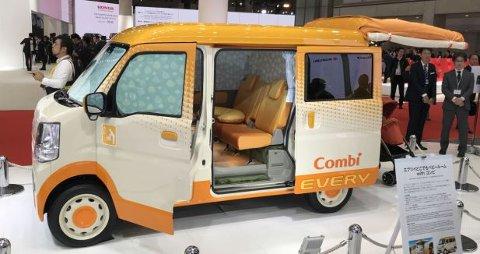 Suzuki Combi Every er en kompakt-bil som er spesielt utviklet for småbarnsforeldre.