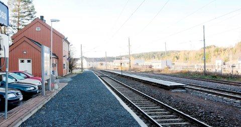 Bensinen forsvant: Guro Kikholt Melhus parkerte bilen ved denne stasjonen.