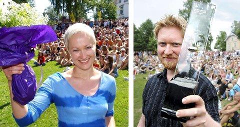 Live Maria Roggen og Helge Lien har begge mottatt jazzprisen til Kongsberg jazzfestival. Nå kommer de tilbake til jazzfesten sammen. Blidene er tatt i henholdsvis 2003 og 2008.