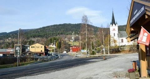 NABO: Parti fra Eggedal sentrum, ett av tettstedene i Sigdal kommune.  Sigdal blir nå del av samarbeidet ved navn Kongsbergregionen.