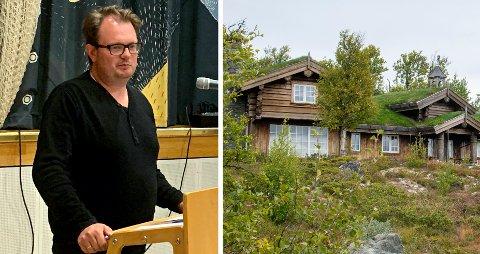 BEFARING: Virksomhetsleder Kristoffer Grette i Nore og Uvdal kommune var en av dem som var på befaring i Lomlia mandag.