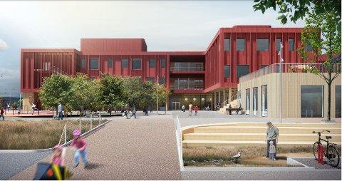 NYTT BYGGEPROSJEKT: Det nye byggeprosjektet kan ifølge kommunalsjef, Vidar Almsten, bli Romerikes største trebygg.