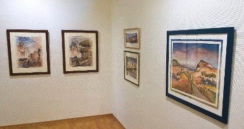 MOSS KUNSTGALLERI: Svein Olav Thunæs og Silvia Campana Villacis åpner utstilling.