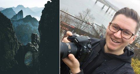 INSTA-HIT: Hobbyfotograf Steffen Fossbakk på Finnsnes har over 75.000 følgere på Instagram.