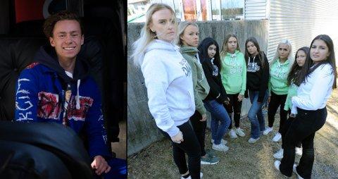Mads Nikolai Rugaas fra Mickey Mantle og jentene fra russebussen Gonzo fortviler over at de ikke har noe sted å være.