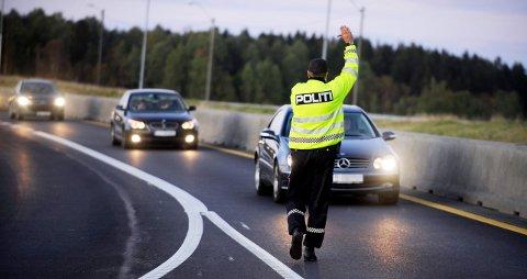Kjørte fort: Larvik-mannen ble stoppet av politiet ved Brufoss sent på kvelden den 7. oktober i fjor. (Illustrasjonsfoto)