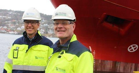 STRATEGISK: En fredag ettermiddag i november 2019, tok Geir Sæther og Jan Brønsten hverandre i handa og bestemte seg for å starte ny, industriell virksomhet i Brevik etter at Vard Brevik var vedtatt å skulle legges ned ved årsskiftet. – Vi vil skape ny og fremtidsrettet industri.