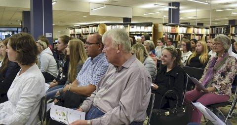 Mange møtte fram for å høre om kosthold og livsstilsendring.