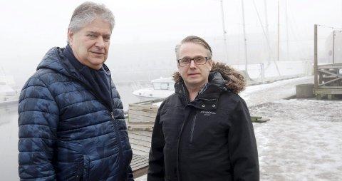 Tenk nytt: De store gamle deponiene bør være historie. Mindre import av farlig avfall, rensing/gjenvinning og ny teknologi må prioriteres, mener Kåre Pettersen (t.v.) og Henning Nilssen i Venstre.foto: Jarl Rehn-Erichsen