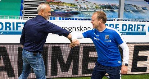 Søndag kommer Lars Bohinen og Sarpsborg til Kristiansund. Fotballekspert Joacim Jonsson tror det kan bli hans siste kamp som trener for laget dersom møtet med Christian Michelsen og KBK går dårlig. (Arkivfoto)