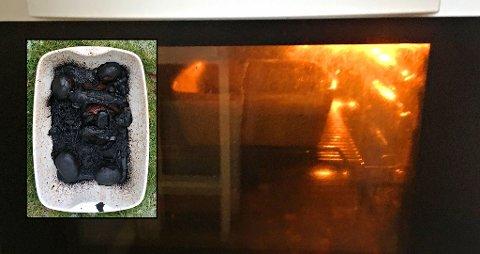 Det kunne fort blitt en brannkatastrofe om ikke naboen hadde varslet brannvesenet i Tønsberg lørdag morgen.