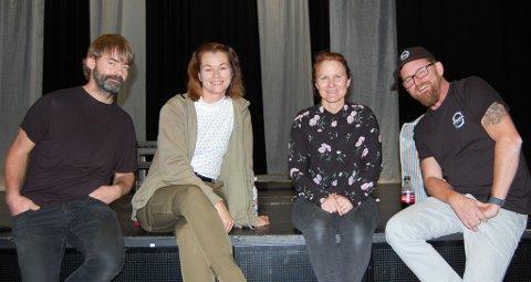 """INTIMT DRAMA: Denne kvartetten har hovedrollene i verdenspremièren for """"Når vi døde våkner"""" som musikkspill. Fra venstre: Bo Platzack, Harriet Müller-Tyl, som også er ansvarliog for oppsettingen, Myfanwy K. Moore og Trond E. Nielsen."""
