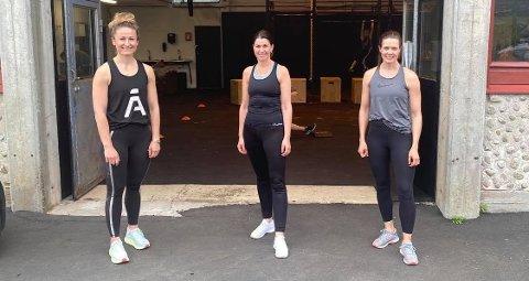 UTFORDRING: Trioen Smiljana Divjak (til venstre), Heidi Nag Flikka og Eva Janne Holstad utfordrer firma, lag og foreninger til en helt spesiell konkurranse!
