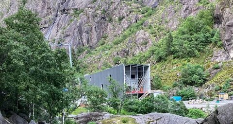 Det nye vitenmuseet i Jøssingfjord er i ferd med å reise seg.