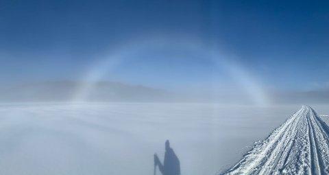 Karl Nystøyl ble vitne til en tåkebue på en skitur i Nordmarka.