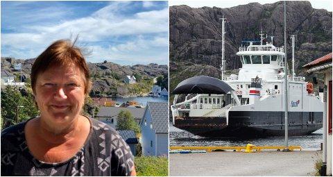 MISTER KUNDAR: På grunn av kansellerte ferjeavgangar mister Sonja Hjønnevåg mange kundar: – Eg har ikkje ord.