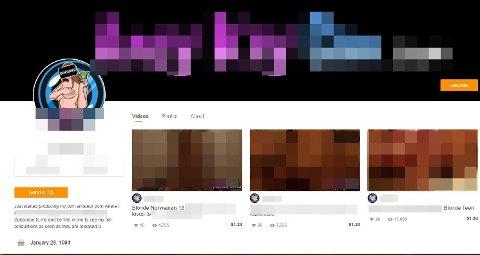 Mannen publiserer også videoene han tar av de unge jentene på ett av verdens største pornosider, bak betalingsmur.