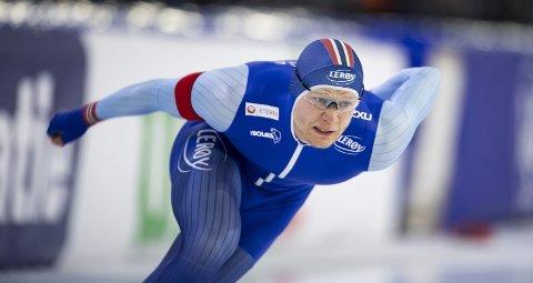 Håvard Lorentzen vant ikke bare sprint-NM i helgen. Han tok også verdensrekord på 500-meter på naturis. (Foto: Emil Weatherhead Breistein)
