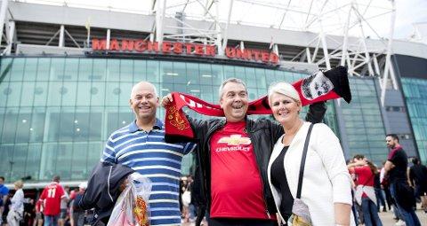 Vi følger Helge Rong med bror og svigerinne til Manchester for å se kamp mellom Manchester United og Leicester