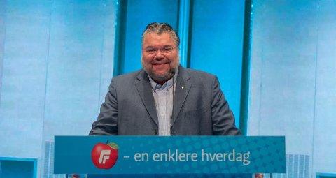 PÅ TALERSTOLEN: Morten Wold er klar til å lede helgens landsmøte i FrP.