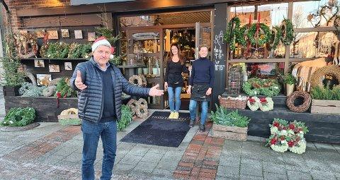 KJØP LOKALT: - Bruk de lokale butikkene og støtt opp om næringslivet vårt når du skal handle inn til jul, sier ordfører i Øvre Eiker, Knut Kvale.